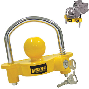 Lock Trailer Tongue Coupler Reese Security Anti Theft Boat Rv Trailer Hitch Set
