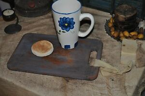 Vintage Worn Dough Board Serving Primitive Board Candle Setter Robins Egg Blue