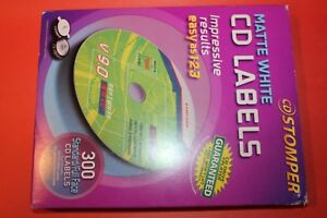 Avery Cd Labels Cd Stomper Cd dvd Labeling System Matte White 300 Pack