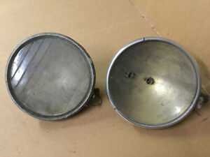 Vintage Pair 1920 S 1930 S Guide Twilite Headlamp Gm Chevrolet Headlights Patina