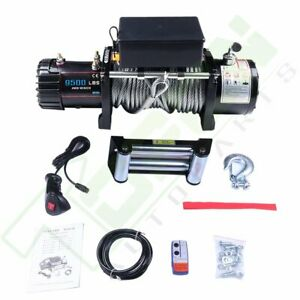 9500lbs 12v Electric 4wd Recovery Winch Kit Ip67 W Wireless Remote For Jeep Suv