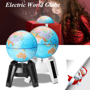 Rotary Electric Automatic World Globe Earth Map Geography Educational Decoration