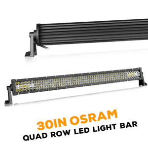 30 1150w Led Work Light Bar Quad Row Spot Flood 6000k Driving Off Road Utv 4wd