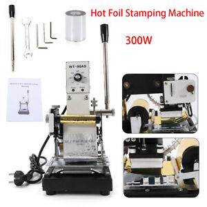 Manual Hot Foil Stamping Machine Diy Leather Pvc Card Logo Printing Bronzing Usa