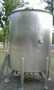 Perry 1490 Gallon T316 Stainless Steel Mix Tank