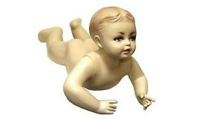 Mn 037 Crawling Tummy Time Baby Toddler Fleshtone Mannequin With Realistic Face