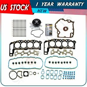 Timing Cover Gasket Head Gasket Bolts Set Water Pump For 02 03 Dodge Dakota 4 7l