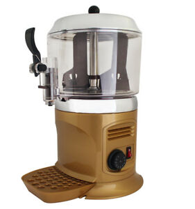 Hot Chocolate Milk Machine Hot Chocolate Dispenser Maker Ce Rohs 110v 5l Golden