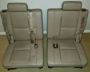 2007 2014 Denali Escalade Tahoe 3rd Third Row Seat Tan Perforated Leather Yukon