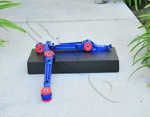 Blue Front Lower Control Arms Pair For Civic 92 95 Integra 94 01 Del Sol 93 97
