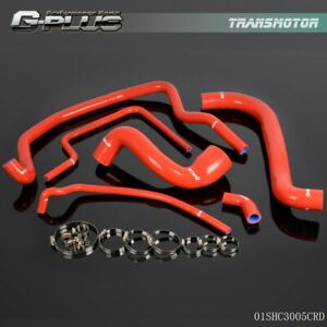 Gplus Silicone Radiator Hose Pipe Clamps Kit For Porsche 924s 6pcs Red