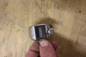 Vintage One Hand Model Selsi Tally Register Counter 0 9999 Chrome Free Shipping