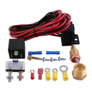 175 185 Electric Engine Cooling Fan Thermostat Temp Switch Sensor Relay Kit 12v