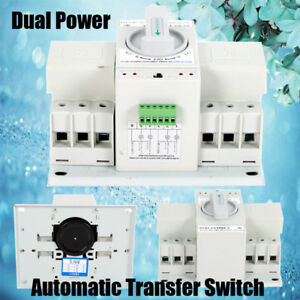 63a 3p Dual Power Automatic Transfer Switch Self Cast M6 50hz 60hz Cb Level 110v