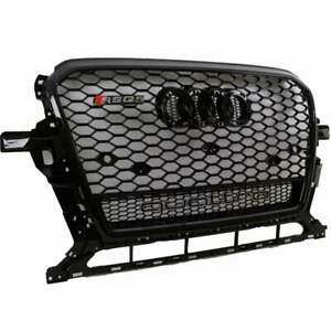 Rsq5 Quattro Style Honeycomb Hex Mesh Grille For 2013 2017 Audi Q5 Gloss Black
