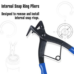 Heavy Duty Cylinder Snap Ring Pliers Internal Ring Remover Retaining Circlip
