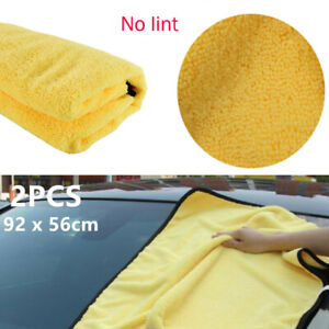 2pc Car Wash Clean Drying Cloth Rinse Absorbent Soft Microfiber Wipe Towel Dried
