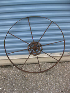 Old Antique Metal Wheel With Gear Art Steampunk Industrial