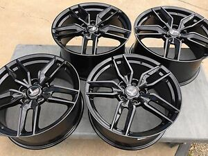 Black 19 20 C7 Z51 R Corvette Stingray Wheels For 2005 2013 C6
