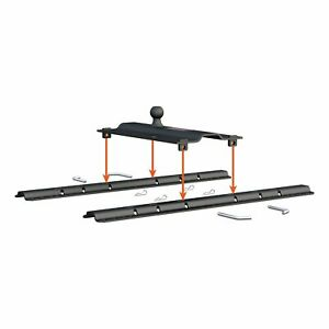 Bent Plate 5th Wheel Rail Gooseneck Trailer Adapter Hitching Towing Accessory