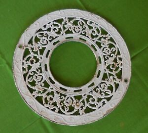 Heat Vent Round Cast Iron Ornate Ceiling Grate Register Vintage 1900 S Antique