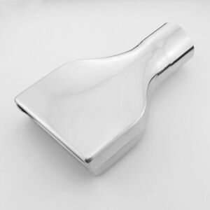 Flat Rectangle Angle Cut Exhaust Tip 2 5 Inlet 10 Long 304 Stainless Steel