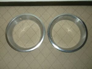 Pair 1970 S Chevy 14 X 2 1 2 Inch Wheel Beauty Trim Ring Ford Dodge Oldsmobile