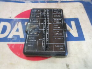 Datsun 76 280z Black Fuse Box Cover