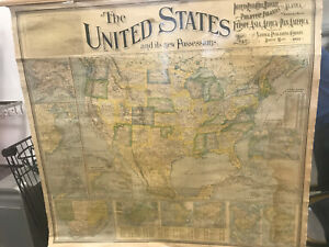 Antique Map 1900 The United States Of America And Its New Possessions