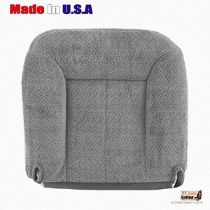 For 1995 To 1999 Chevy Tahoe Suburban Driver Bottom Cloth Seat Cover Pewter Gray