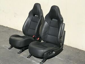 2017 Corvette C7 Gm Grand Sport Front Black Leather Seats Perforated Power