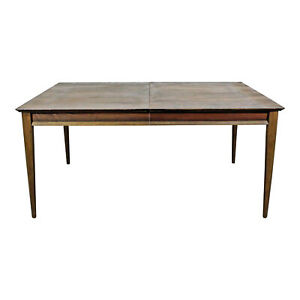 Mid Century Danish Modern Parquet Top Walnut Dining Table By Lane