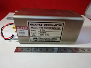 Wenzel Miteq 5 Mhz Low Phase Noise Quartz Oscillator Frequency Standard 6v a 32