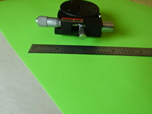 Sigma Koki Rotatable Optical Laser Stage Micrometer Pro Optics As Is l5 b 09