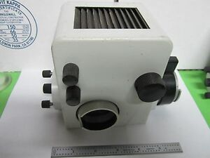 Microscope Part Leitz Germany Lamp Housing Illuminator Optics As Is Bin p3 01