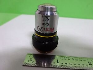 Microscope Part Objective Olympus Plan 20 20x Japan Optics As Is Bin y5 k 05