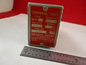 Vintage Quartz Crystal Frequency Control Bendix Radio Mx 9 As Is B f1 e 07