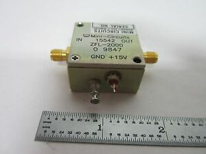 Mini Circuits Rf Amplifier Frequency Zfl 2000 Bin k1 13