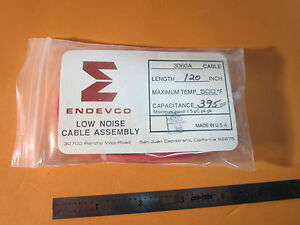 Endevco 3060a Low Noise 500f Cable 10 32 For Accelerometer Vibration