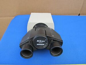 Microscope Part Binocular Head Nikon Japan As Is Bin f8 01