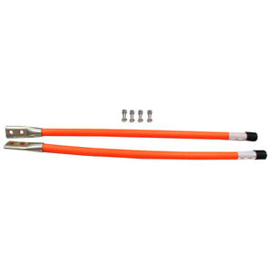 62595 Snow Plow 24 Orange Guide Markers W Reflective Decal Tape For Western