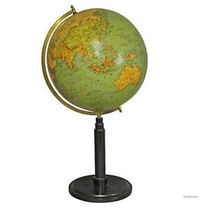 Antique Colorful Earth Globe Published By Wegweiser Ca 1930