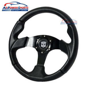 12 6inch Universal Fit Transformers Jdm Sport Steering Wheel W Horn And Emblem