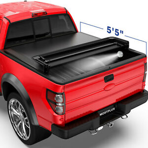 5 5ft 4 fold Truck Bed Tonneau Cover Soft Folding For 2015 2021 Ford F150