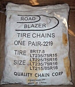 Road Blazer Truck Tire Snow Chains Stock 2219 Never Used