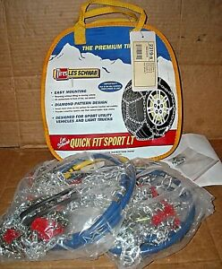 Les Schwab Quick Fit Sport Tire Snow Chains Stock 2319 s Never Used