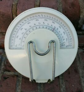 Vtg Hanging Grocery Store Scale Denmark Great Condition Metal Plastic Heavy