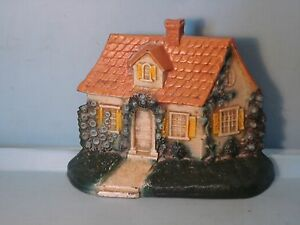 Cape Cod Cottage Cast Iron Door Stop Made By Hubley 211 5 3 4 Near Mint