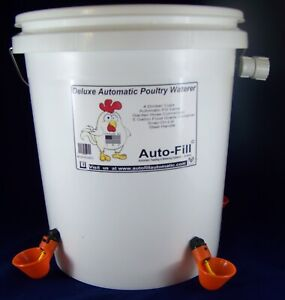 Automatic Chicken Poultry Waterer 5 Gallon 4 Drinker Cups Made In Usa