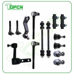 For Dodge Ram 2500 3500 2wd 14pcs Front Ball Joints Idler Arm Tie Rods Kit